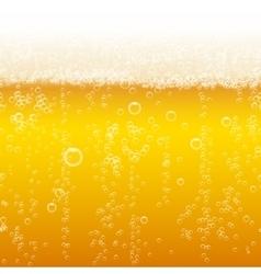 Beer foam background horizontal seamless beer vector image