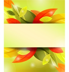Abstract autumn leaf background vector