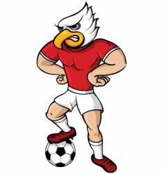 soccer eagle mascot vector image