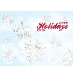 Happy holiday 2016 snowflakes background vector