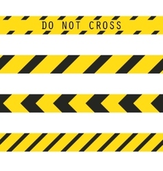Do not cross the line caution tape vector