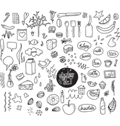 Sketch set hand drawn elements dotted vector