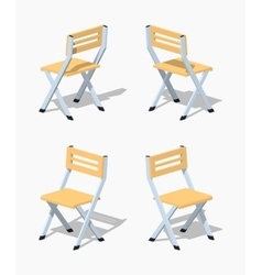 Low poly folding chair vector