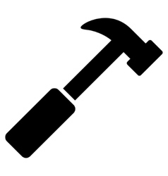 Hammer flat icon vector