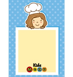 girl chef vector image
