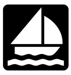Sailing symbol vector