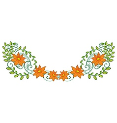 An orange and green border vector image vector image