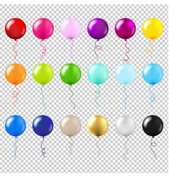 balloons big set vector image