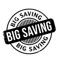 Big Saving rubber stamp vector image
