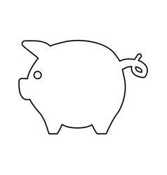 broke savings moneybox vector image