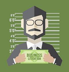 Business Litigation Concept vector image