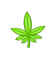 Cannabis leaf icon cartoon style vector image