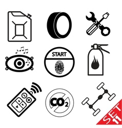 car part icon set 11 vector image