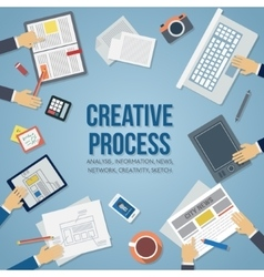 Creative process vector
