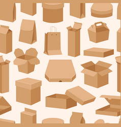 Different boxes packseamless pattern warehouse vector