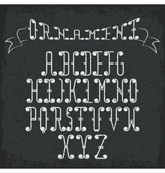 Grunge swirly alphabet vector