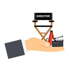 Hand with director seat vector