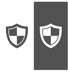 high security shield icon on black and white vector image