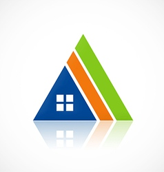 House triangle construction abstract logo vector