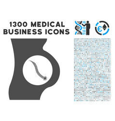 intestinal parasite icon with 1300 medical vector image