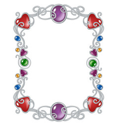 jewelry frame template vector image vector image