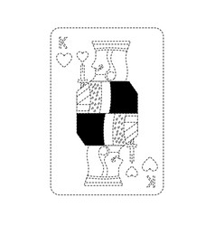 King of hearts french playing cards related icon vector
