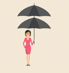 manageroffice worker or businesswoman holding vector image