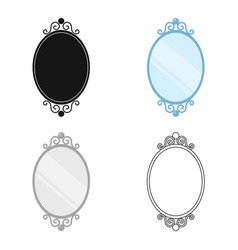 mirror icon of for web and vector image