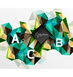 Mosaic low poly abstract background with vector