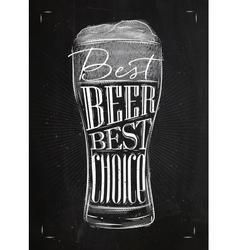 Poster best beer chalk vector image