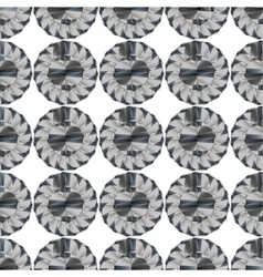 Seamless geometric pattern flowers vector image vector image