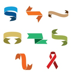 Set of decorative ribbons vector image vector image
