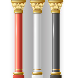 Set of different luxury columns vector
