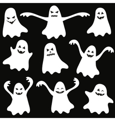 Set of halloween funny ghosts vector image vector image