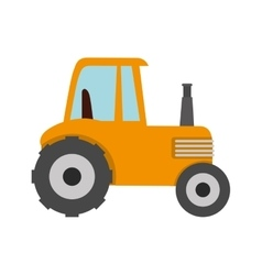 tractor farm agriculture icon graphic vector image