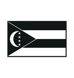 Comoros flag icon vector
