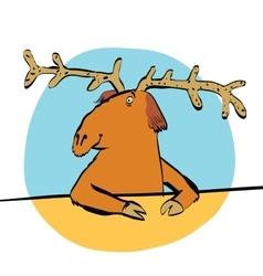 Christmas reindeer or moose vector