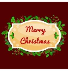 Winter greeting card christmas holiday banner vector