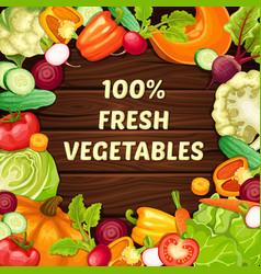 Cartoon organic natural food template vector