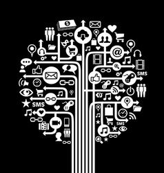 Social media concept tree vector image