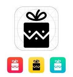 Christmas present icon vector image