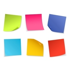 Set of isolated colorful paper notes vector