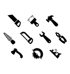 Set of isolated hand tools icons vector