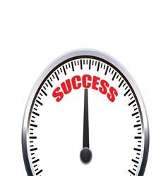 successful speedometer vector image