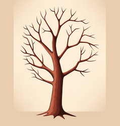 Bare brown tree vector