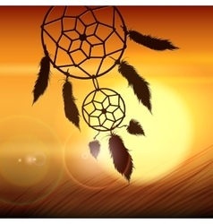 Dreamcatcher on the wind vector