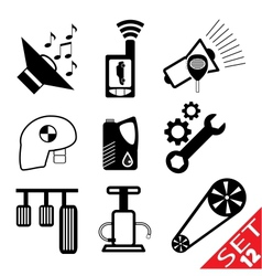 Car part icon set 12 vector