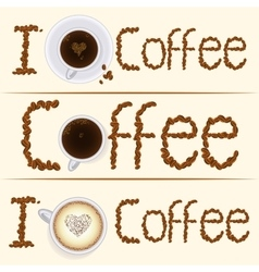 Collection of three vintage coffee banners in vector