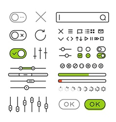 Different style trendy interface elements and vector