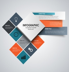 Info graphic with abstract colored squares vector